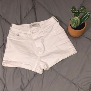 White High Waisted Hollister Jean shorts
